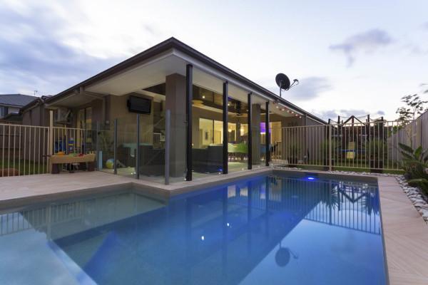 Basic backyard outdoor pool